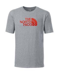 The North Face Men's Short Sleeve Logo T-Shirt Heather Grey