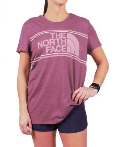 The North Face Women's Tri Color Logo T-Shirt Crushed Violets Heather