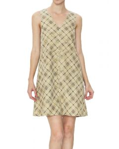 Very J Women's Plaid Dress Taupe