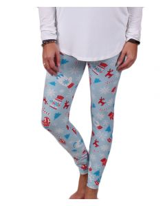 Deloache Women's Christmas Leggings Blue