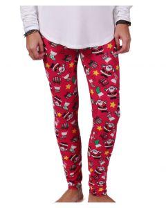 Deloache Women's Christmas Leggings Red