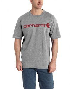 Carhartt Men's Signature Logo T-Shirt Granite