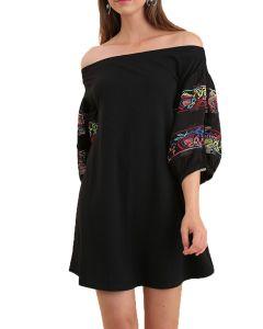 Umgee Women's Off Shoulder Dress Black