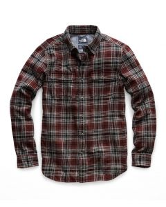 The North Face Men's Long Sleeve Arroyo Flannel Sequoia Red