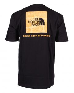 The North Face Men's Red Box T-Shirt TNF Black TNF Yellow