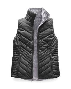 The North Face Women's Mossbud Insulated Reversible Vest Asphalt Grey