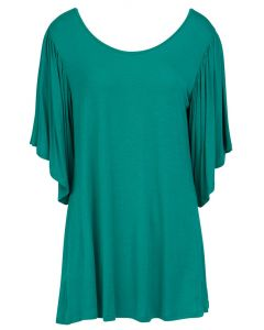 Mountain Mamas Women's Ruffle Sleeve Tunic Teal