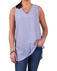 Simply Noelle Women's Up and Across Striped Top Carolina