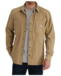 Carhartt Men's Rugged Flex Rigby Shirt Jac Dark Khaki