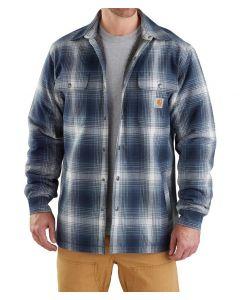 Carhartt Men's Hubbard Sherpa Lined Shirt Jac Navy