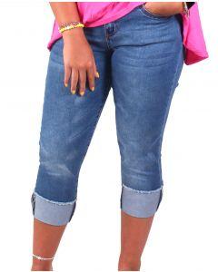 One 5 One Women's Crop Jeans Medium Stonewashed