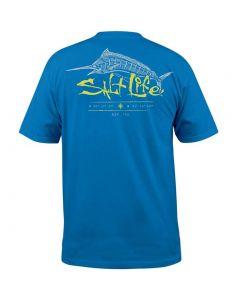 Salt Life Men's Etched Marlin T-Shirt Royal