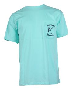 Salt Life Men's Get Bent Ale T-Shirt Aruba Blue