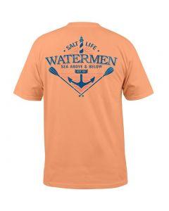 Salt Life Men's Sea Above & Below T-Shirt Grapefruit