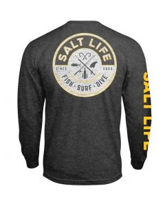 Salt Life Men's Friction T-Shirt Charcoal Heather