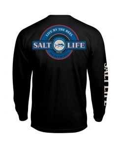Salt Life Men's Live By Reel T-Shirt Black