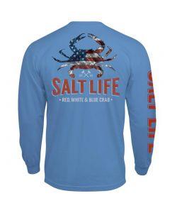 Salt Life Men's American Crab T-Shirt Chambray