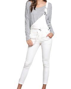 Wishlist Women's Overall Skinny Jeans White