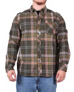 North River Men's Long SLeeve Brushed Cotton Olive