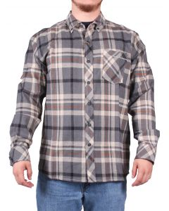 North River Men's Long SLeeve Brushed Cotton Steel
