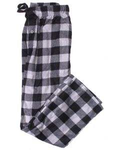 Stillwater Supply Co Men's Fleece Pants Grey Black Plaid
