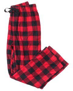 Stillwater Supply Co Men's Fleece Pants Red Black Plaid