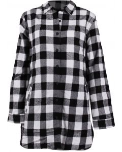 Pacific Teaze Wome's Stillwater Flannel Tunic White Buffalo