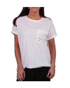 Olive + Joye Women's Pearl T-Shirt Ivory