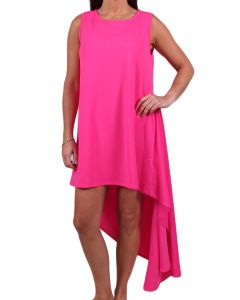 Carole Christian Women's Sleeveless Asymmetrical Dress Fushia