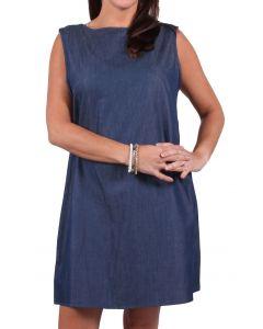 Carole Christian Women's Ruffle Back Dress Dark Denim