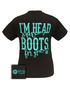 Girlie Girl Originals Women's Head Over Boots T-Shirt Dark Chocolate