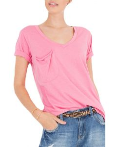 Z Supply Women's Pocket T-Shirt Pink Lemonade