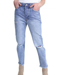 Umgee Women's Distressed Boyfriend Jeans Vintage Medium