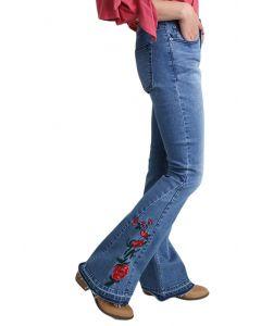 Umgee Women's Midrise Flare Jeans Light Denim