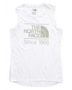 The North Face Women's Vintage Pyrenees Tri-Blend Muscle Tank TNF Whit