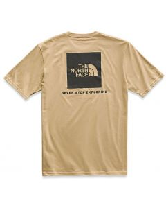 The North Face M S/S Red Box Tee Kelp Tan TNF Black