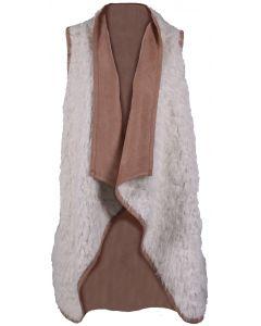 Andree By Unit Women's Fur Vest Ivory
