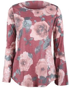 Andree By Unit Women's Floral Tunic Burgundy