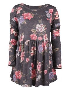 Andree By Unit Women's Floral Tunic Charcoal