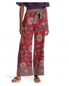 Angie Wide Leg Pants Berry