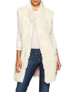 Angie Women's Furry Vest Taupe