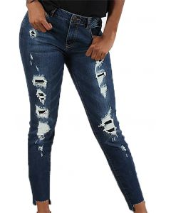 Boom Boom Jeans Destructed Skinny Dark Wash