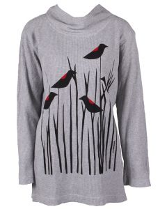 Marushka Women's Redwing Blackbirds Tunic Grey
