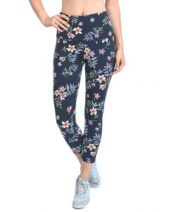 Mono B Women's High Waist Capri Leggings Cherryprint