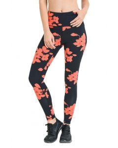Mono B Women's High Waist Full Leggings Hibiscus Print