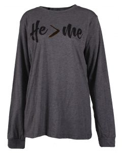 Pink Armadillo Women's He > Me Sweatshirt Grey