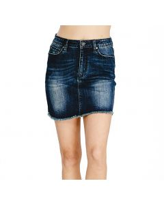 Wishlist Women's Denim Skirt Black Denim
