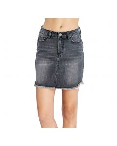 Wishlist Women's Denim Skirt Grey