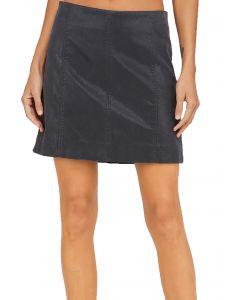 Wishlist Apparel Women's Half Zip Skirt Faded Black