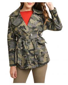 Umgee Women's Camo Jacket Grey Camo